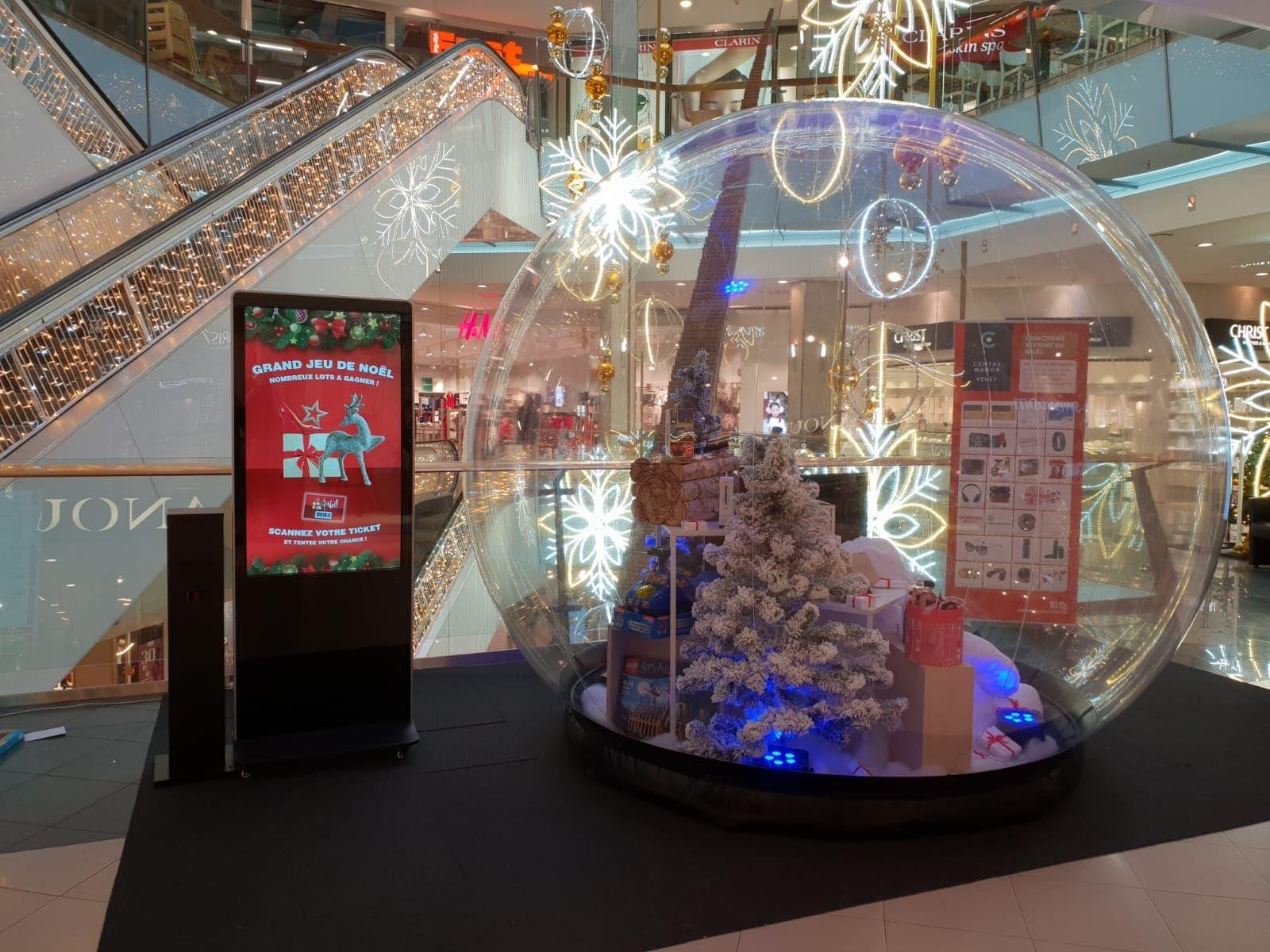 Les centres commerciaux de Manor Vevey, Sierre et Chavannes en fêtes avec les bornes de Digital Turn et l'Agence de communication WMC