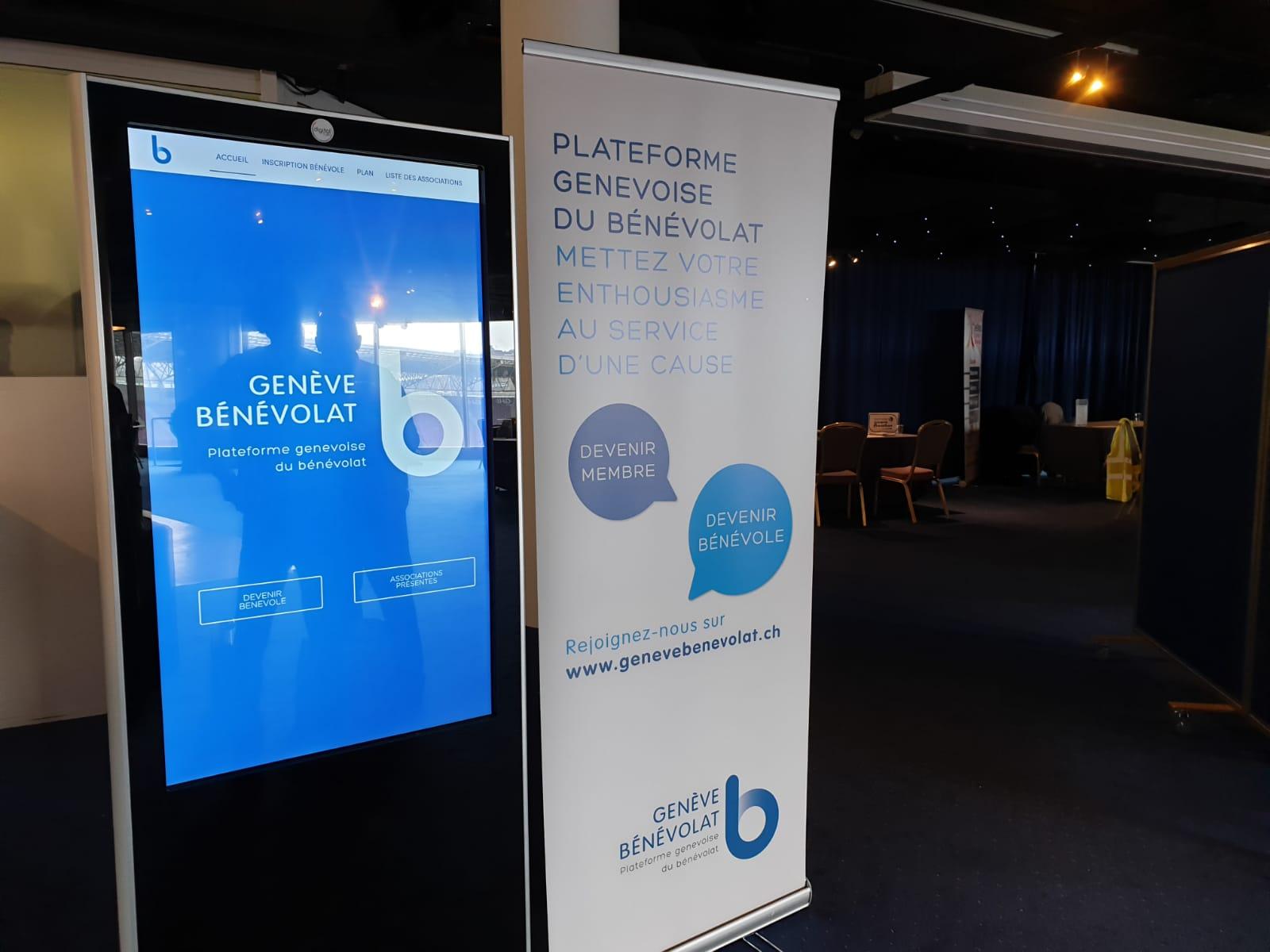 Projet de Borne Tactile Interactive pour l'association Genève Bénévolat