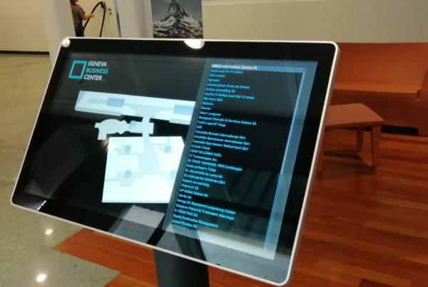 Geneva Business Center borne interactive et plan