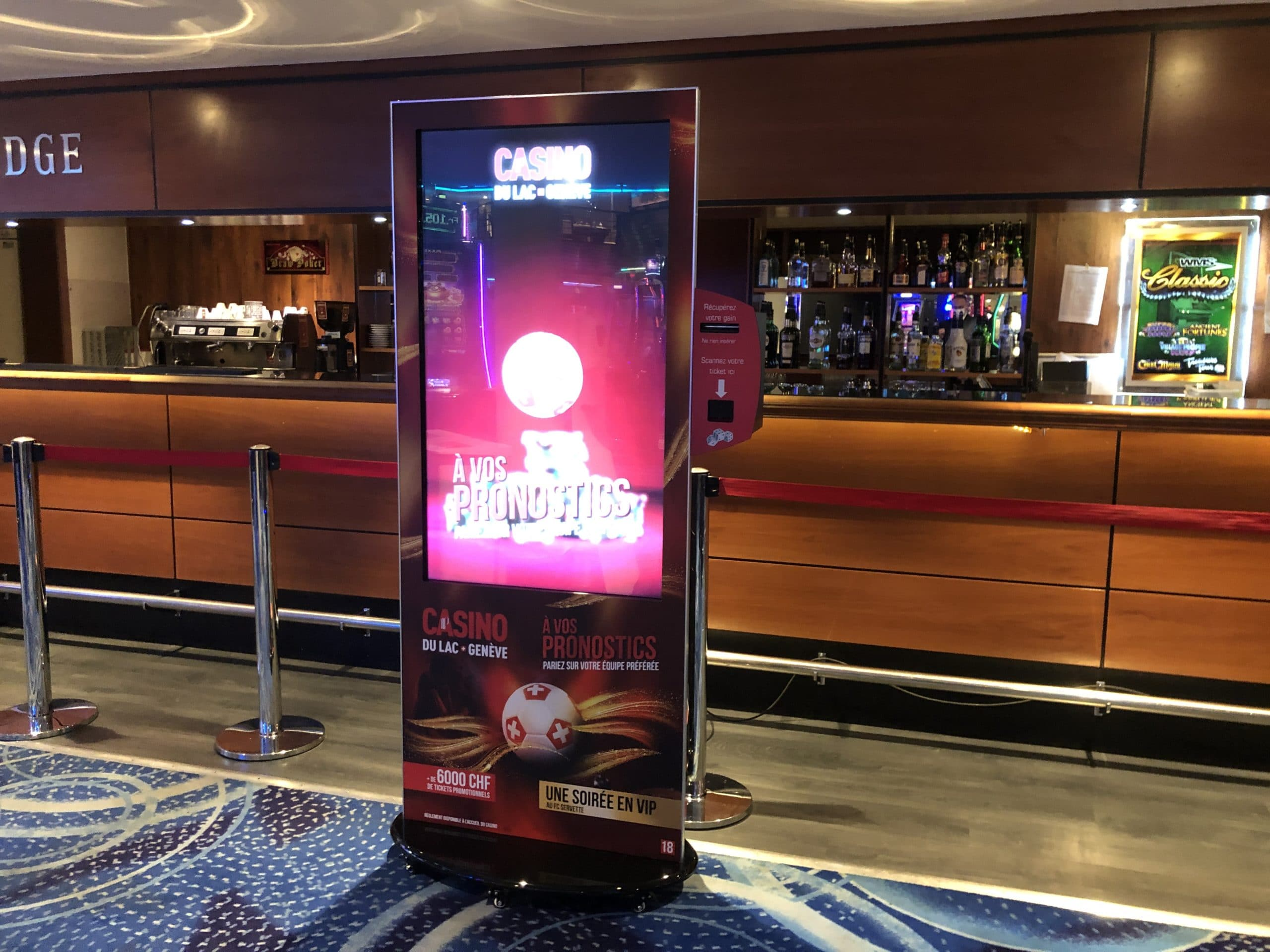 Réalisez vos pronostics au Casino du Lac sur notre borne Tactile