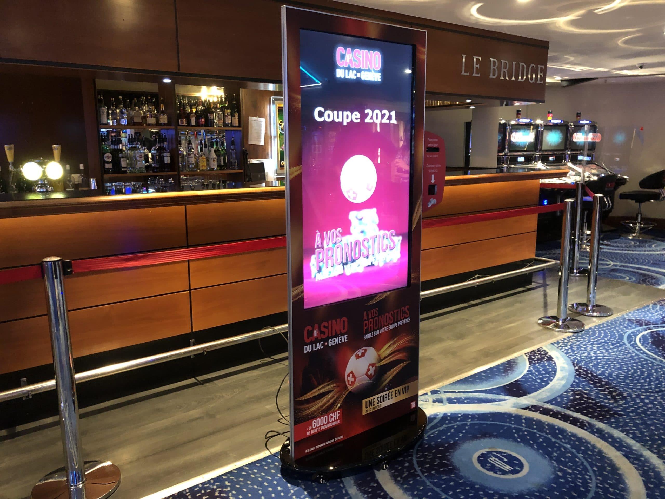 Coup d'envois de la coupe d'Europe au Casino du Lac avec notre Borne Tactile